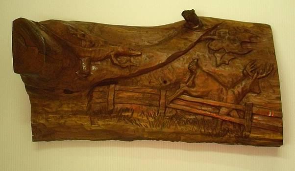 Lizard  Deer by Charles Sims