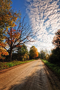 Dirt Road and Sky in Fall by Lars Lentz