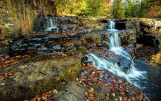 Dismal Creek Falls Horizontal by Joe Shrader