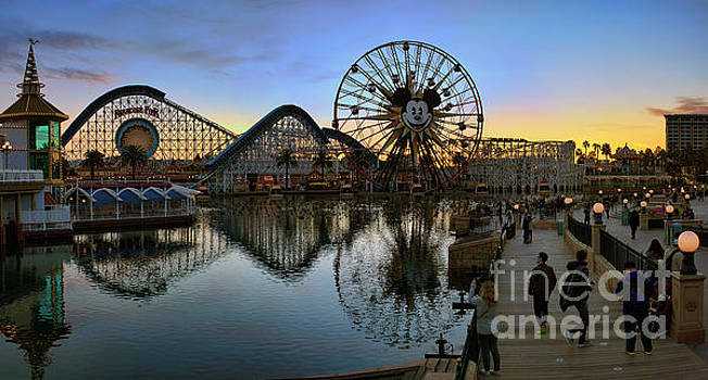 Disney California Adventure Panorama by Eddie Yerkish