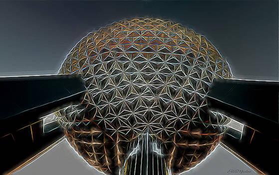 Disney Epcot Glowing at Night by Ericamaxine Price