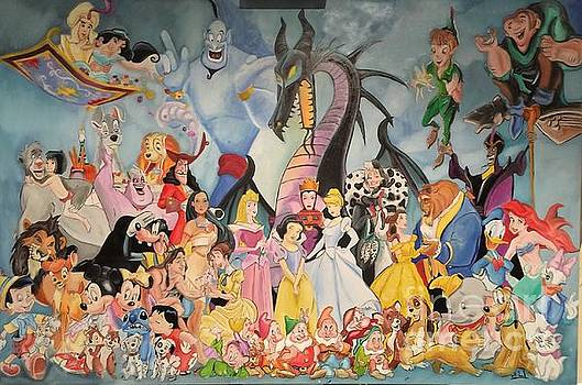 Disney in oils by Michael Iglesias