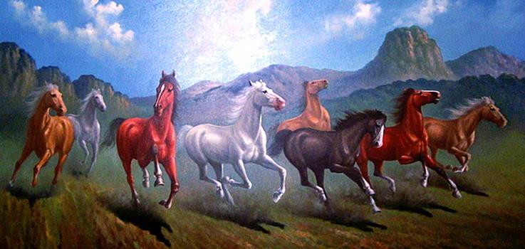Distance tests a horse by Yuki Othsuka