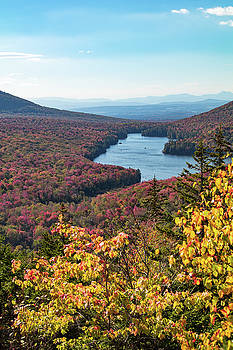 Distant blue mountains  from Owls Head by Jeff Folger