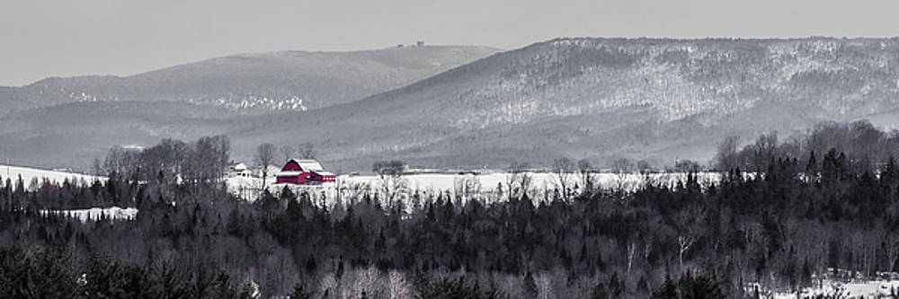 Distant Red Barn by Tim Kirchoff