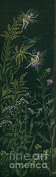 Ditchweed Fairies Goldenrod and Thistle by Dawn Fairies