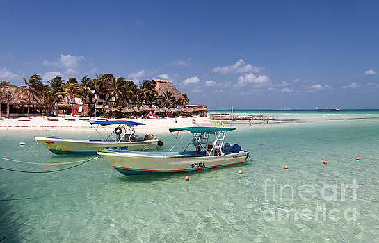 Dive Boats on Isla Mujeres by David Daniel