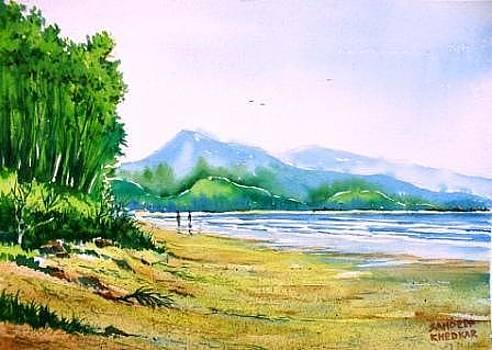 Diveagar Beach 1 by Sandeep Khedkar