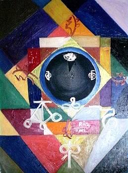 Rizwana Mundewadi - Divine Balance Reiki symbol Painting