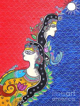 Divine Couple in Madhubani by Shachi Srivastava