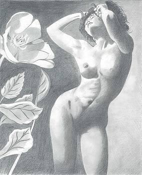 Divine Nude with Poppy by Bernardo Capicotto