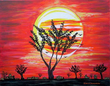 Divine Sunset by Gina Nicolae Johnson