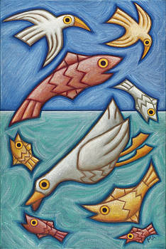 Diving Duck by Mary Anne Nagy