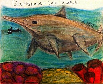 Diving with Shonisaurus by Andrew Blitman