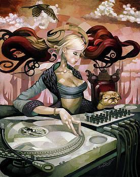 DJ Girl 03 by Adam Strange
