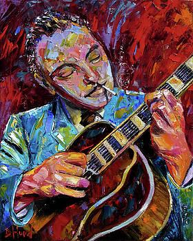 Django Reinhardt portrait by Debra Hurd