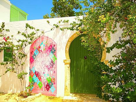 Djerba Street Art Doorway by Exploramum Exploramum