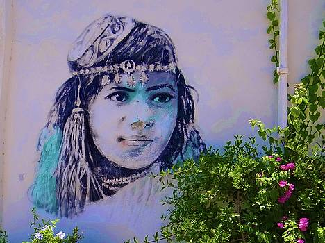 Djerba Street Art Girl by Exploramum Exploramum