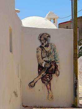 Djerba Street Art - Tunisia Man by Exploramum Exploramum
