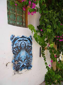 Djerba Street Tiger Graffiti by Exploramum Exploramum