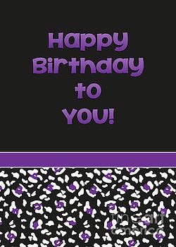JH Designs - Dk Purple Leopard Birthday