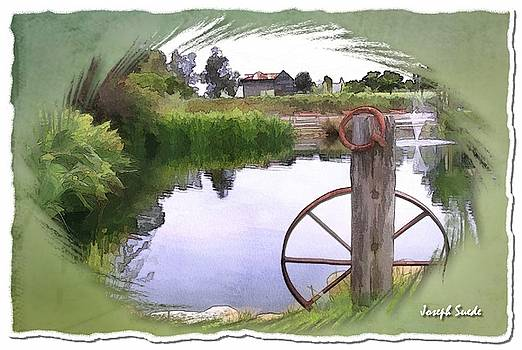 DO-00151 Waterview and Old Wheel by Digital Oil