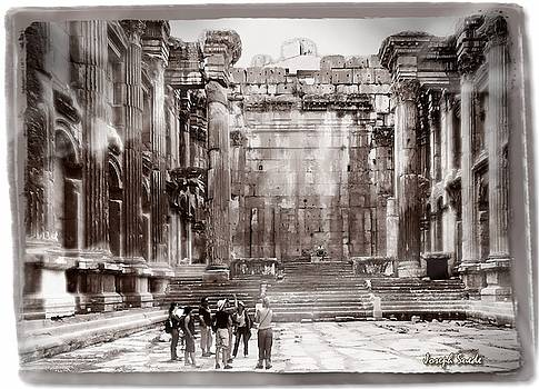 DO-00316 Inside The Temple of  Bacchus - Baalbeck by Digital Oil