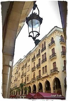 DO-00353 Lantern in Downtown by Digital Oil