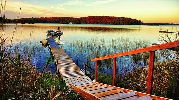 Dock at Gawas Bay by Bryan Smith