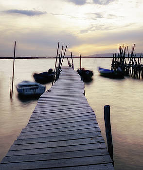 Dock at Sunset by Marion McCristall