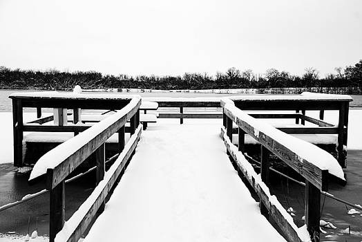 Dock in the Winter by Lisa M Smith