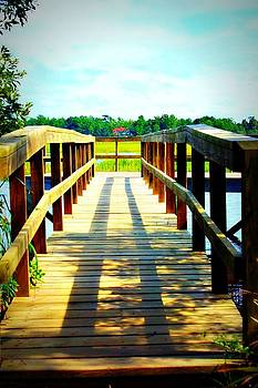 Dock on Alston Creek by Jill Tennison