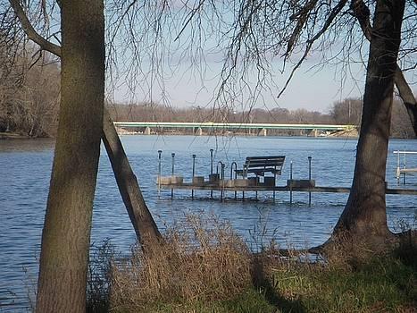 Dock on River by Deborah Finley