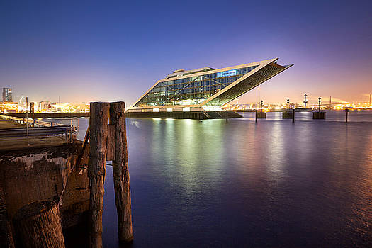 Dockland At Night by Marc Huebner