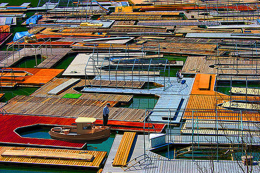 Docks in a Row by Melvin Kearney