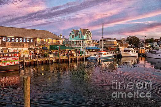 Dockside Marthas Vineyard Massachusetts  by Wayne Moran
