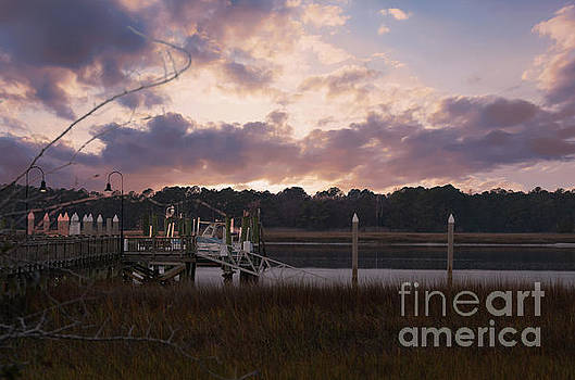 Dockside Sunset over the Wando by Dale Powell