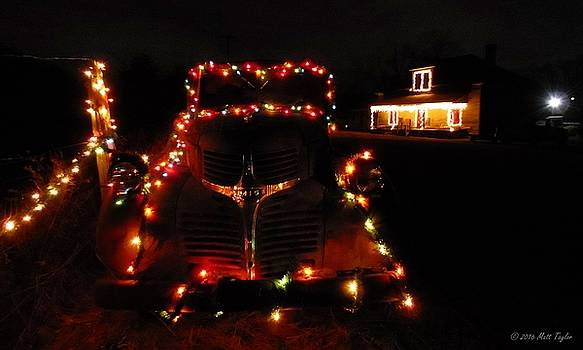 Dodge Truck Decked Out For Christmas by Matt Taylor
