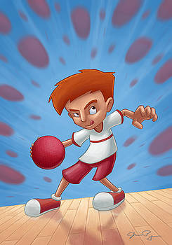 Dodgeball Kid by Jamie Pogue