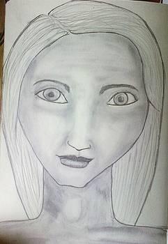 Doey eye Girl by Dorine Coello
