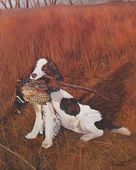 Dog and Pheasant by Barbara Barber