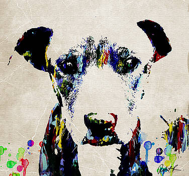 Dog ART ABSTRACT MODERN PAINTING by Robert R Splashy Art Abstract Paintings