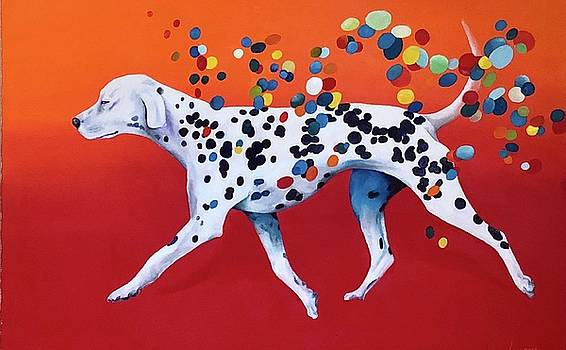 Dog Dots by Grus Lindgren