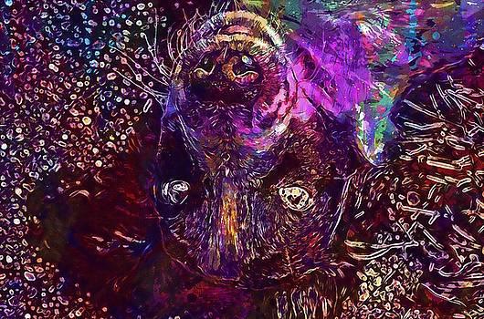 Dog Eyes Dog Eyes Puppy White Dog  by PixBreak Art