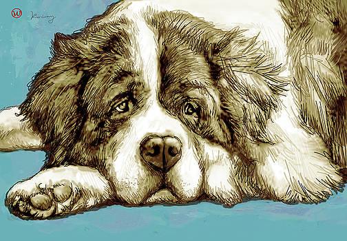 Dog -  New Pop Art Poster by Kim Wang