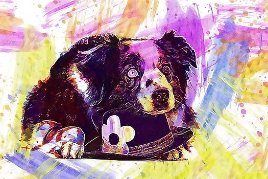 Dog Purebred Dog British Sheepdog  by PixBreak Art