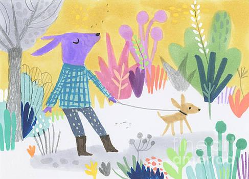Dog Walking Dog by Kate Cosgrove