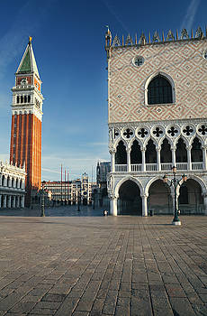 Doge's palace and campanile in Venice, Italy by Ivan Bastien