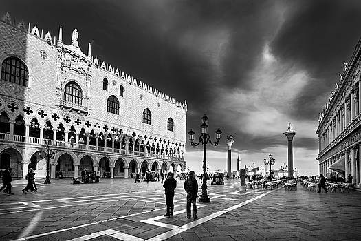 Doge's Palace on St Mark's Square - Venice by Barry O Carroll