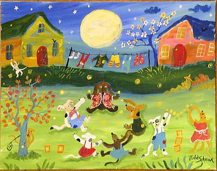 Doggone Good Firefly Evening by Julie Schronk